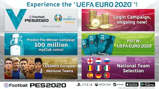 Konami verkündet EURO 2020-Kampagne für eFootball PES 2020 auf Konsole und Mobilgeräten.