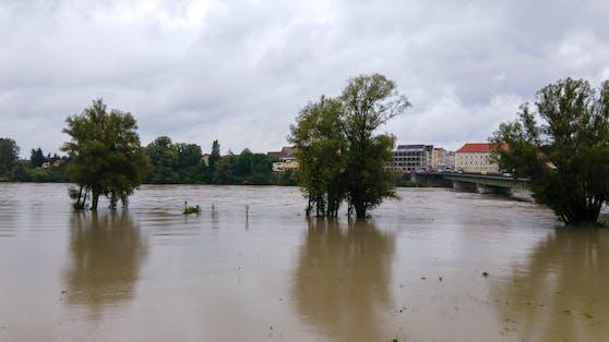 Land unter auch in Braunau.