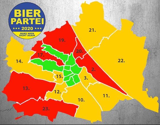 """In einigen Bezirken """"torkelt"""" die Bierpartei noch."""