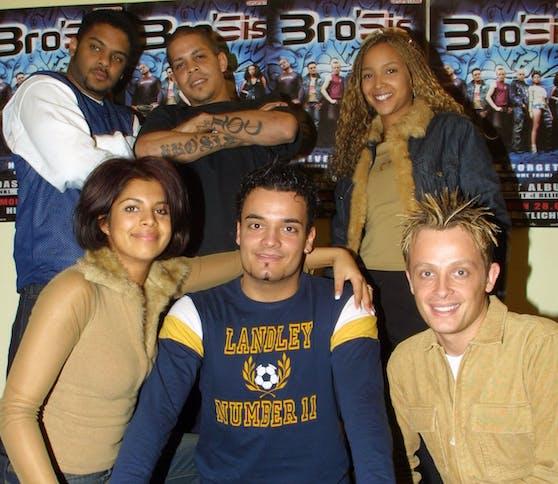 """Von 2001 bis 2006 war Ross Anthony (vorne rechts) erfolgreich mit der Casting-Band """"BroSis""""."""
