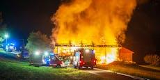 13 Feuerwehren kämpften gegen meterhohe Flammen