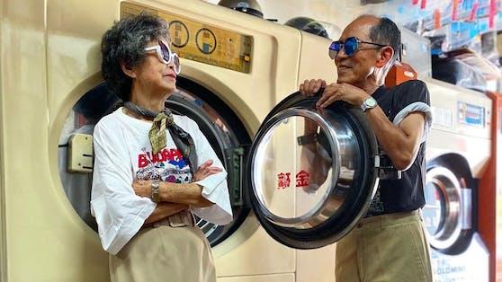 Chang Wan-ji (83) und seine Frau Hsu Sho-er (84) wurden über Nacht zu Instagram-Fashion-Stars.