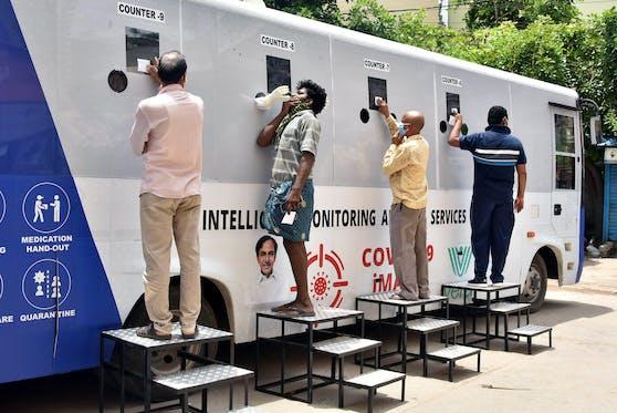 In Indien erreichen die Corona-Fälle eine Höchstmarke. (Symbolbild)