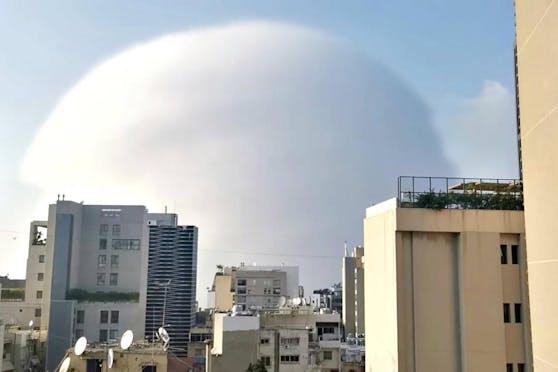 Explosion in Beirut: Foto zeigt die Druckwelle