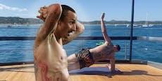 Ibrahimovic zeigt sein Fitness-Programm auf hoher See