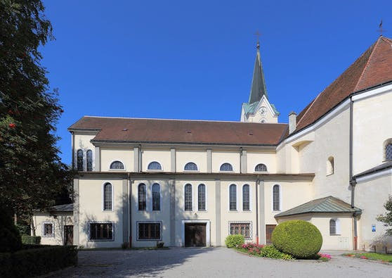 Die Pfarrkirche in Wieselburg
