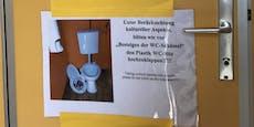 Strombad in Klo`burg: Hinweis für richtigen Klogang