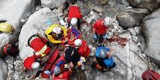Unfall beim Canyoning, Heli-Einsatz in der Schlucht