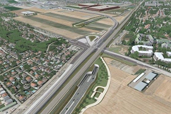 So könnte die neue Stadtstraße aussehen.