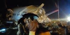 Mehrere Tote: Flugzeug zerbricht bei Landung