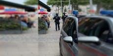 Bewaffneter Banküberfall in Wien, Täter auf der Flucht