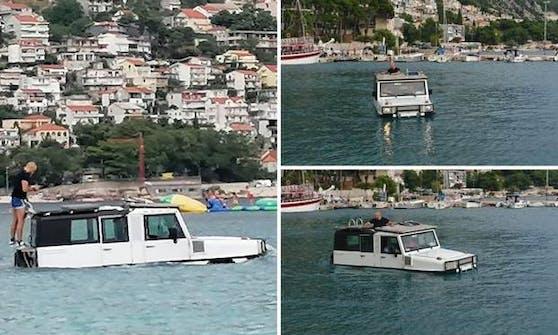 Es gab wohl keine freien Tretboote mehr…