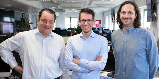 Die Chefredakteure im Heute.at-Dachangebot: Peter Frick, Clemens Oistric (heute.at), Alexander Klein (netdoktor.at)