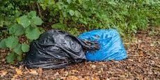 Lokal-Einnahmen in Müllsackerl im Wald vergessen