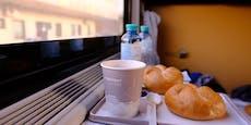Familie isst ganze Zugfahrt lang, um Masken zu umgehen