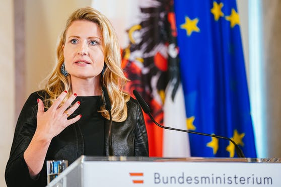 Integrationsministerin Susanne Raab im Rahmen einer Pressekonferenz am 29. Juni 2020
