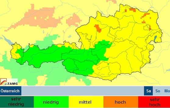 """Der Schadstoffgehalt ist in einigen Teilen Österreichs bereits """"hoch""""."""