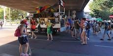 Club-Demo sorgt für Verkehrs-Chaos in Wiener City