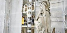 17 Figuren am Rathausturm werden restauriert