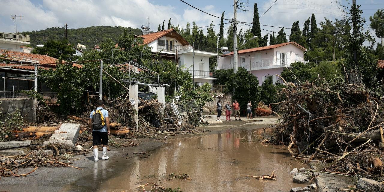 überschwemmung Griechenland Heute
