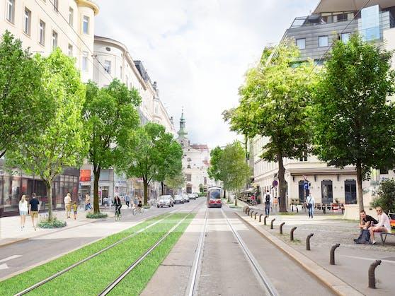 In der Wiedner Hauptstraße will Neuroth (Grüne) bessere Querungsmöglichkeiten schaffen.
