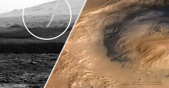NASA-Forschern gelang es erstmals ein ungewöhnliches Phänomen am Mars zu filmen.