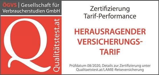 Reiseschutz für Drei Kunden von LAMIE direkt mit Top-Testergebnis.