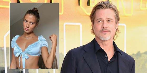 """Brad Pitt hatte das Model Nicole Poturalski nach der Deutschland-Premiere von """"Once upon a Time ... in Hollywood"""" kennen gelernt."""