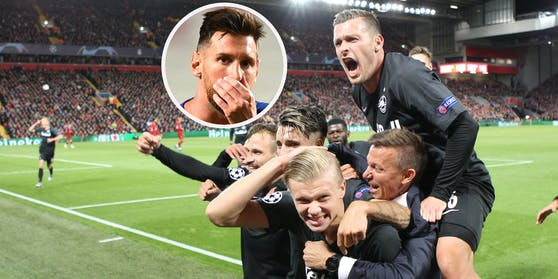 Zlatko Junuzovic (r.) jubelte oft mit Erling Haaland. Mit Lionel Messi wohl nie.