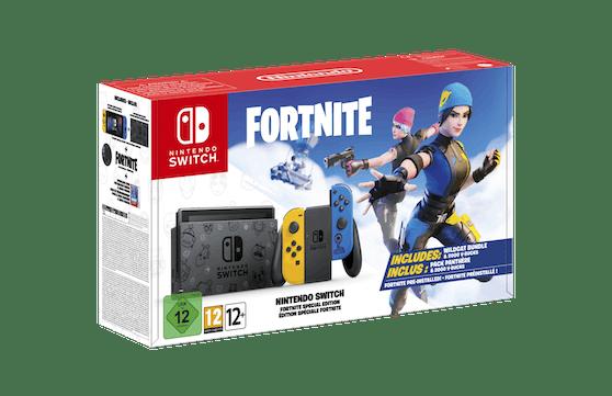 Das Paket beinhaltet eine einzigartig gestaltete Nintendo Switch, exklusive Joy-Con und mehr.