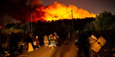 Neues Feuer in Flüchtlingslager Moria ausgebrochen