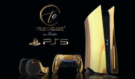 So sieht die goldene PS5 aus.