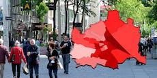 Geheim-Report: Diese Bezirke in Wien sind Corona-Rot