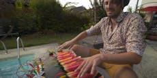 Dieser YouTuber spielt Musik auf Wassermelonen