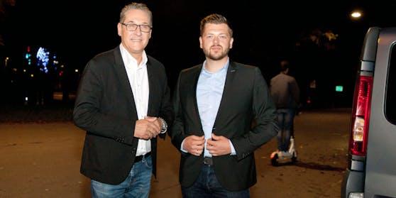 Heinz-Christian Strache und Zoran Kovacevic bei der ersten Station am Wiener Praterstern