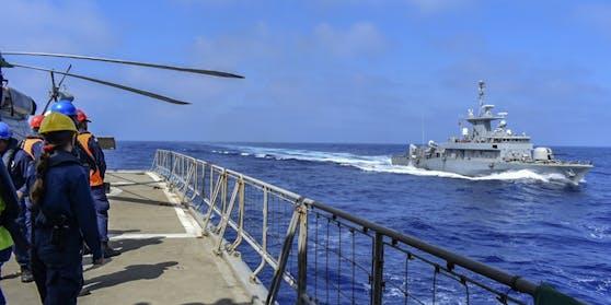 Derartige Marinemanöver verstießen gegen Zyperns Souveränität, erklärte die Regierung in Nikosia am Samstag.