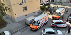 Mann sprang aus Fenster in Wien um Feuer zu entkommen