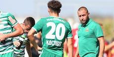 Coach Hofmann kassiert mit Rapid II 0:3-Auftaktpleite