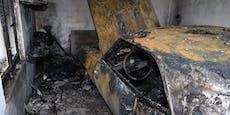 Seltenes Muscle-Car bei Brand in Garage völlig zerstört