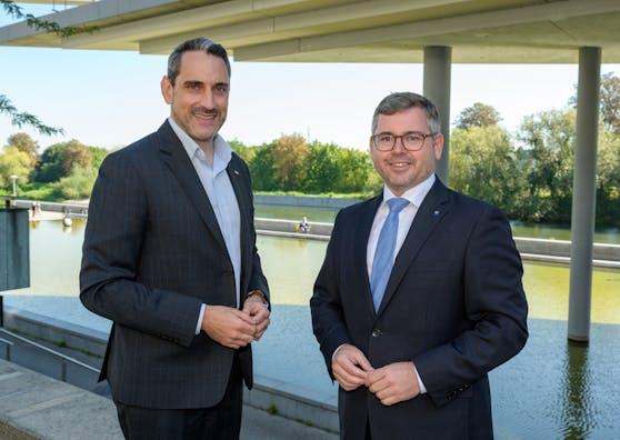 ÖBB-Regionalmanager Christof Hermann (li.) und Landesrat Ludwig Schleritzko