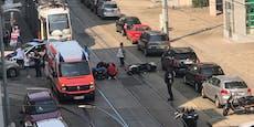 Biker bricht sich Knochen bei Unfall in Wien
