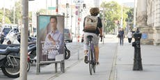 Wahlplakate bremsen jetzt Radfahrer aus