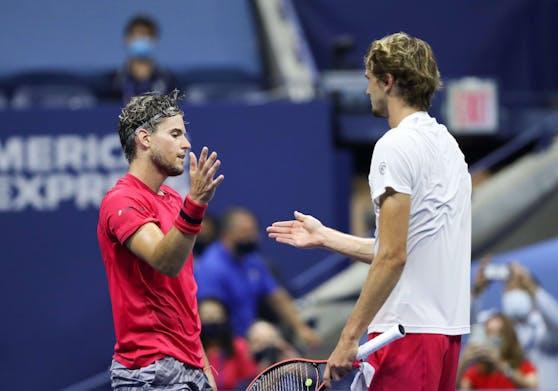 Zverev gratuliert Thiem nach dem US-Open-Finale