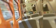 Nachtschwärmer kiffen in Wiener U-Bahn aus dem Fenster