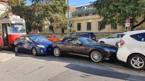 Crash am Montagvormittag in Wien-Wieden
