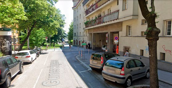 Blick in die Guneschgasse in Wien-Döbling