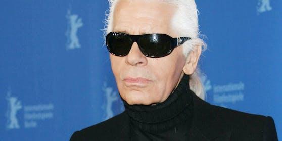 Die verstorbene Designer-Legende Karl Lagerfeld