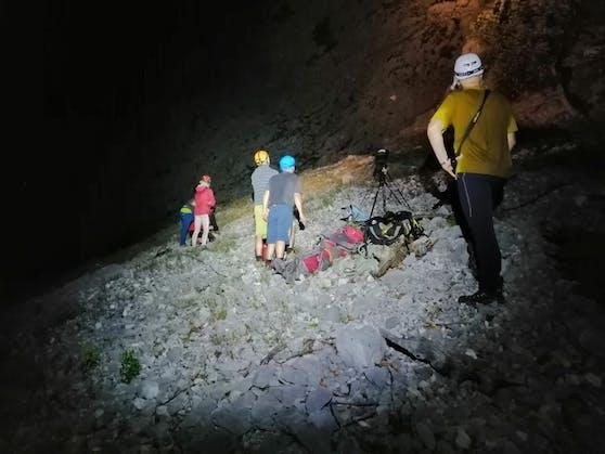 Einsatz für die Bergrettung