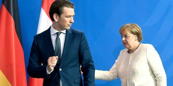 Zwischen Österreichs Kanzler Kurz und Deutschlands Kanzlerin Merkel kriselt es