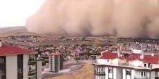 Gewaltiger Sandsturm tobt über Ankara – 6 Verletzte
